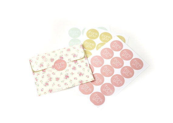 Round Thank You Stickers 3 Sheets (45 ct)