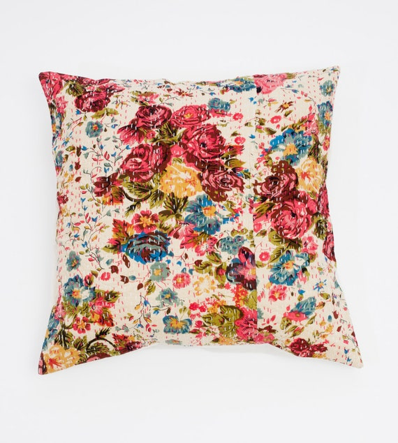 Grand coussin de Perfection florale de 20 x 20