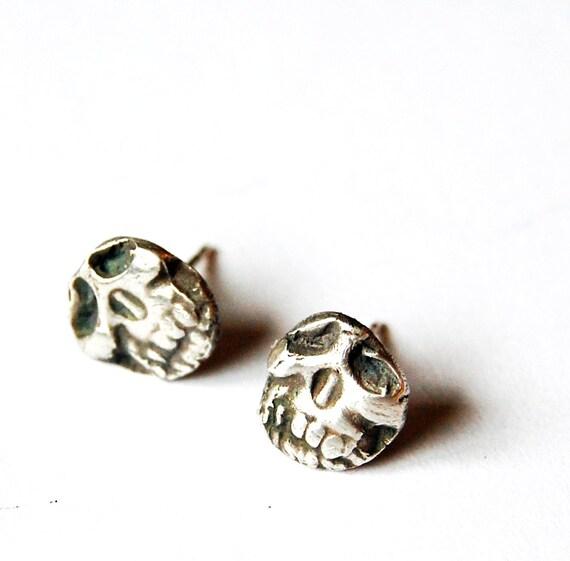Skull Stud Goth Earrings