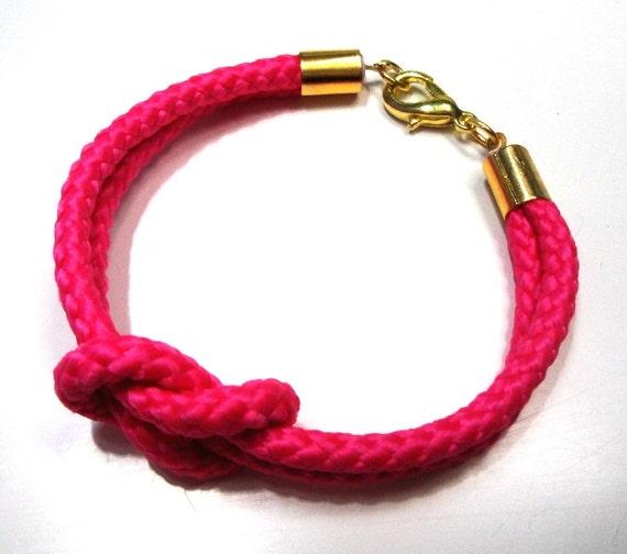 Climb rope bracelet in neon pink