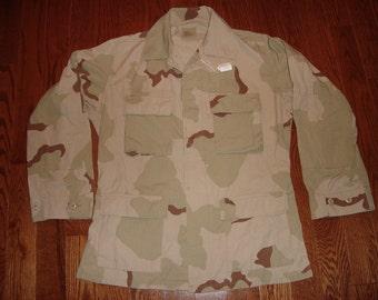 US Military Issue Desert Camo Jacket, DCU Shirt - Size Medium - Long No. 2