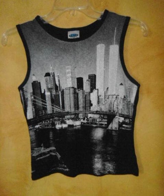 new york city twin towers tank top small. Black Bedroom Furniture Sets. Home Design Ideas