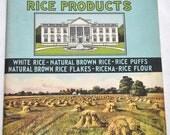 Vintage Cookbook - White House Rice Recipes - 1920s-1930s