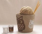 Hand Painted Owl Plant Pot / Planters / Pottery / Flower Pot / Cute Owls