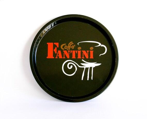 Reserved for Makiko - Vintage Italian Tray Retro tin Caffe Fantini