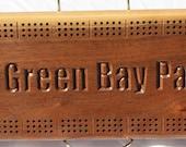 Personalized Black Walnut Cribbage Board