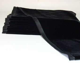 Black Velvet, TWELVE (12) Remnants 44 inches x 10 inches
