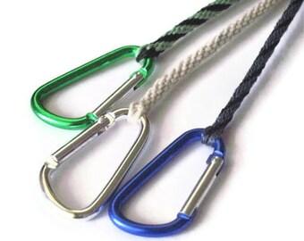 "Carabiner bracelet - kumihimo braid - 8"""