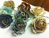 Paper Rose Bobby Pin Set
