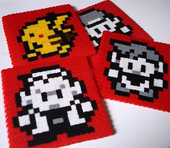 Pokemon Coaster Set - Overworld Characters Ash, Gary, Professor Oak and Pikachu