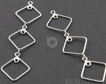 Sterling Silver, Pear Drop Chandelier Earring Component, Gorgeous Jewelry Component Finding, 1 PAIR  (SS/893/54X16)