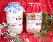 Mason Jar All-Natural Dog Treat Mix (pictured here decorated for winter Holidays)