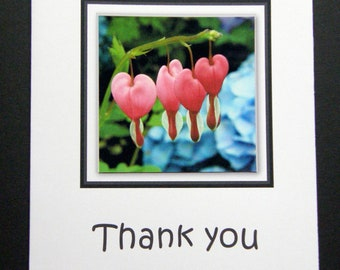 Bleeding Hearts Thank You Card