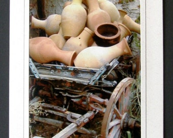 Wagon of Turkish Pottery Greeting/Note Card