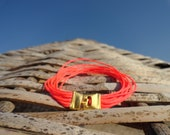 Friendship Neon Pink String Bracelet - Women, birthday, teenager, jewelry, style, unique, colorful,