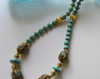 OTTOMAN necklace: Turkish beads and turquoises