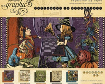 HALLOWEEN in WONDERLAND GRAPHiC 45 -12x12 DELUXE Collection - Shipping Now !!