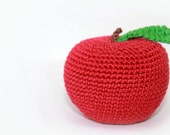 Crochet apple toy for children, baby