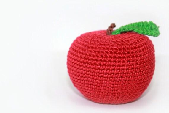 Crochet apple toy for children, baby