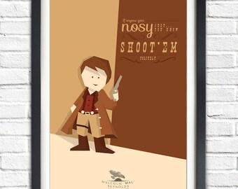 Firefly - Serenity - Malcolm Reynolds 'MAL' - Nathan Fillion - 19x13 Poster