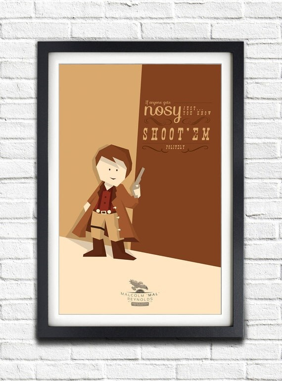 Firefly - Serenity - Malcolm Reynolds 'MAL' - Nathan Fillion - 17x11 Poster