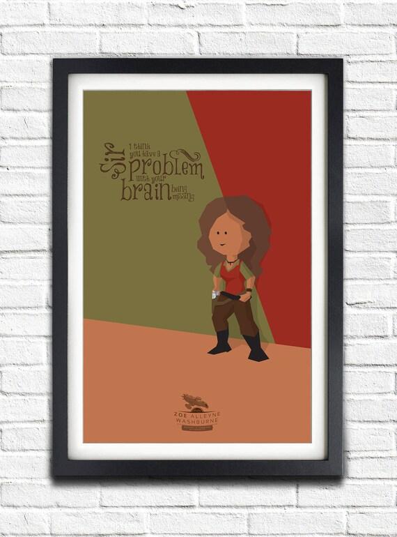Firefly - Serenity - Zoe Washburne - Gina Torres - 17x11 Poster