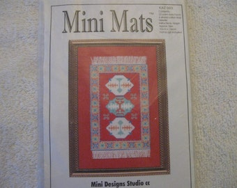 Mini Mats Cross Stitch Pattern and Kit for a Framed Mat