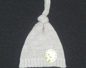 Upcycled Baby Knot HAT. Sweater Coming Home Hat. 0-3 M. Ready to Ship.