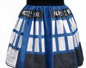 Police Box Inspired Full Skirt