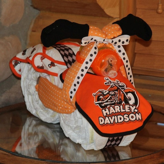 harley davidson diaper motorcycle gender by bettycakesbakery