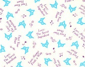 1 yard of Love the secret ingredient fabric princess and the frog fabric