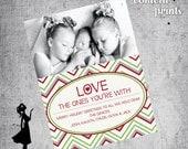 Holiday Photo Card - SWEET LOVE Printable