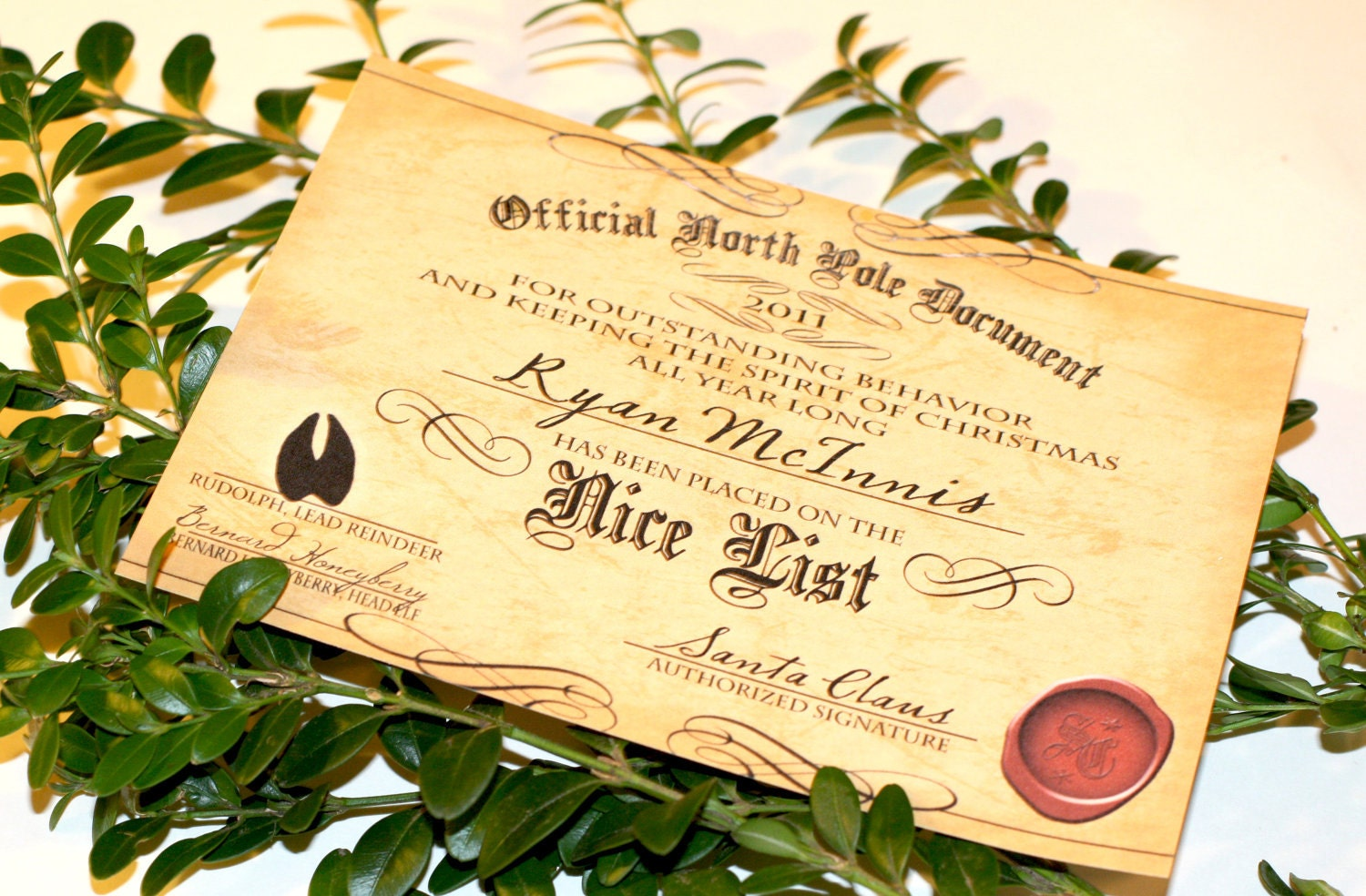 to Editable NICE LIST CERTIFICATE Printable Instant Download on Etsy ...