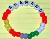 NOW ON SALE Hetalia SpaMano Pony Bead/Kandi Bracelet - One Size Fits All