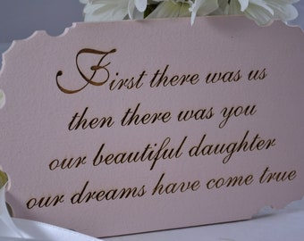 Baby nursery sign / plaque for new baby, shower gift.