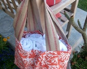 Beautiful Orange Coral Beach Bag