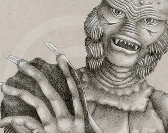 Creature From the Black Lagoon Drawing