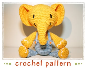 Elephant - Crochet Pattern - PDF file - Amigurumi