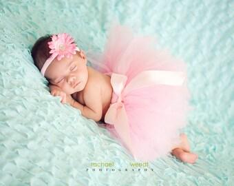 Ballerina tutu, Pink, tutu, Princess tutu, POSH PINK tutu, Custom Made Hand-Tied Pink Ribbon Tutu Skirt with Free Flower Clip