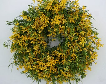 Spring Wreath, Summer Wreath, Easter Wreath, Forsythia Wreath