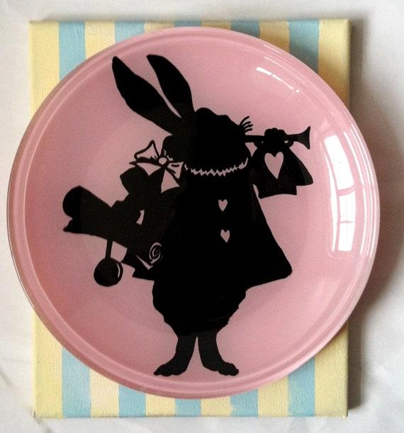 White Rabbit Silhouette PlateWhite Rabbit Silhouette