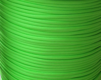 100 ft hank of Neon Lime Green 550 Paracord by Atwood