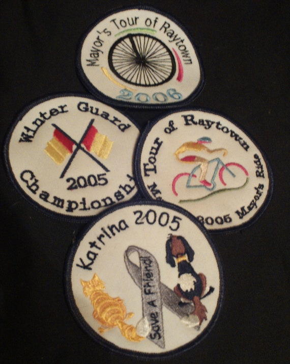 custom embroidered patch design your logo or team or name