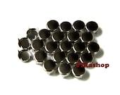 3mm 100pcs Silver flat head round studs / HIGH Quality -  Fikashop