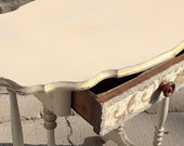 Shabby chic accent table with drawer - Adam Zollinger
