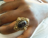 QUEEN MARGRETHE VICTORIAN Bronze Adjustable Ring 1 Size Should Fit All by Juste Jolie