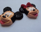 MICKEY AND MINNIE Cobochons Embellishments by Juste Jolie