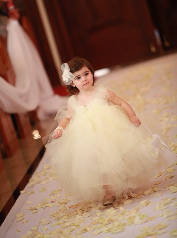 Flower Girl Dress, Wedding Dress, Bridal Special Occasion Flower Girl Dress by Isabella Couture
