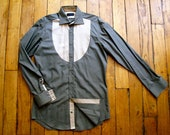 Shirt Unique Piece Khaki & Beige by HiLoSoFia