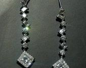 """4.42Ct Diamonds 18k Gold Dangle Earrings Drops 1.8"""" Long LOTS OF FIRE"""